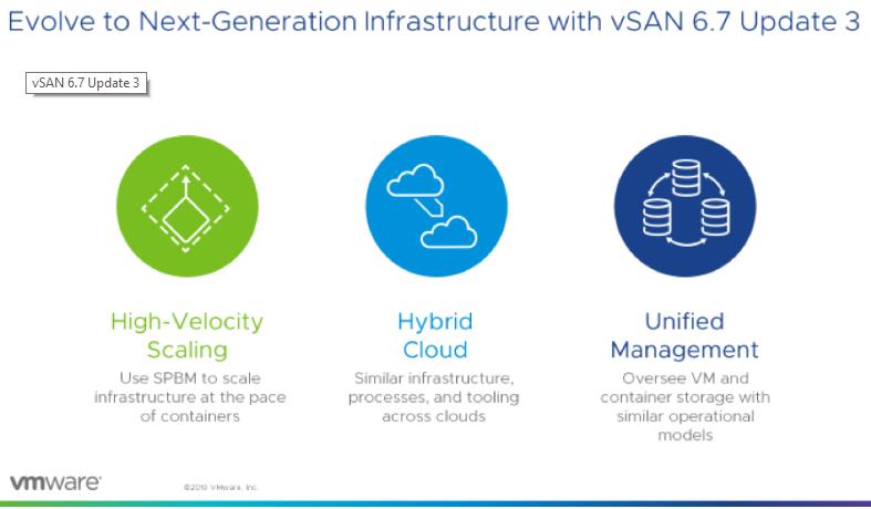 بررسی بروزرسانی سوم vSAN 6.7 و قابلیت های جدید آن