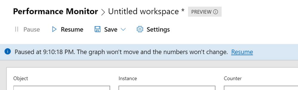 تنظیمات setting در پرفورمنس مانیتور