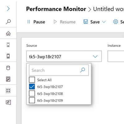 نود کلاستر در Performance Monitor جدید