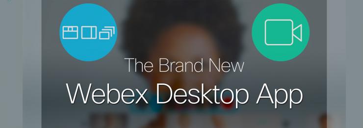 برنامه کاربردی WebEx Meetings Desktop