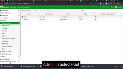 05 – Admin Trusted Host – Fortigate Admin Crash Course-1