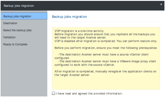 Backup Job Migration