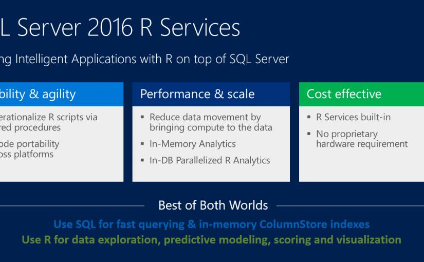مفهوم R و آنالیز پیشرفته داده ها درSQL Server 2016