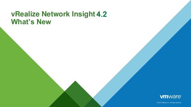 ویژگیهای جدید vRealize Network Insight 4.2