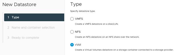 Datastoreهای vVolها
