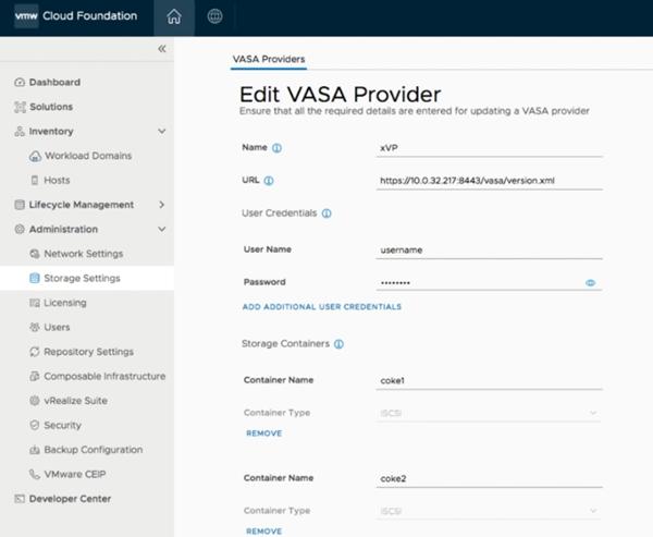 تنظیم vVolها به عنوانPrincipal Storage