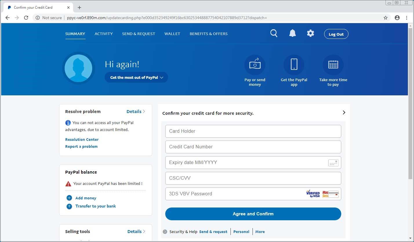 سرقت اطلاعات PayPal توسط باجافزار جدید